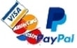 We accept credit and debit cards, Visa, Mastercard, Maestro and Paypal
